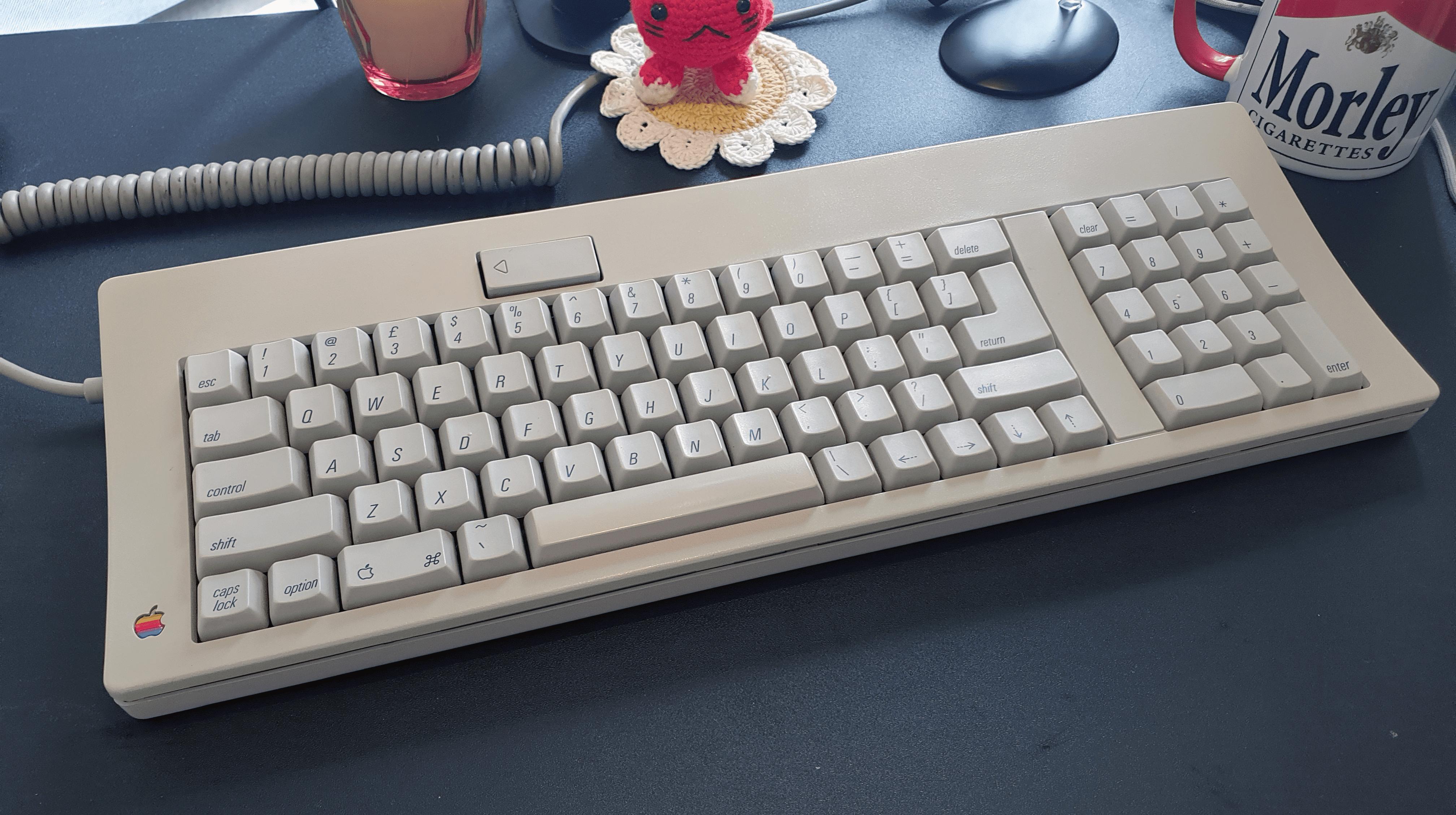 Apple Standard Keyboard, click-modded